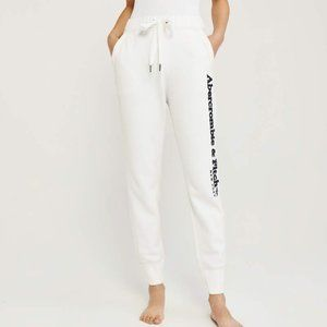 NWOT Abercrombie and Fitch White Joggers sz small
